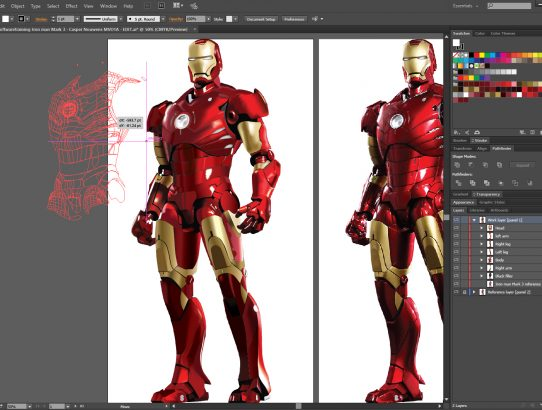 Iron man Mk.III Illustrator gradient mesh